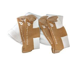 2 Pairs Compression Socks Copper Men Women Unisex Circulation Pregnancy White
