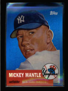 MICKEY-MANTLE-2008-TOPPS-FACTORY-SET-MMR-53-BLUE-REFRACTOR-CARD-SP-AY7661