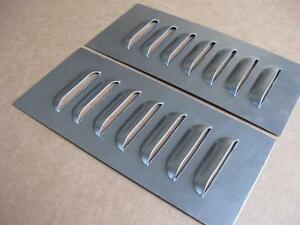 3 Quot Pair Straight Aluminum Louvered Panels 7 Louvers Ea By