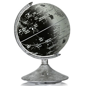"3-in-1 LED World Globe 9"" Educational Desktop Globe with Illuminated Star Map"