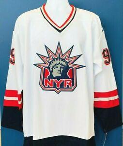 Wayne-Gretzky-99-CCM-NY-Rangers-Custom-STATUE-OF-LIBERTY-Jersey-2-Sizes