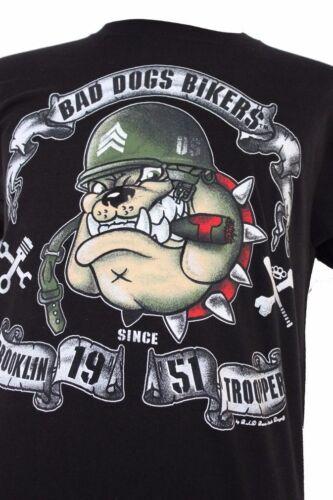 T-shirt manche coupe homme-100/% coton Bad Dogs Bikers * Double face *