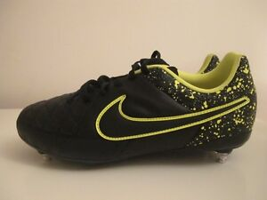 Mens Nike Margista Soft Ground Black Green Football Boots Uk 5.5 EU ... 2862867dc