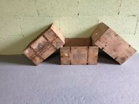 6 Vintage Wooden Cheese Crates