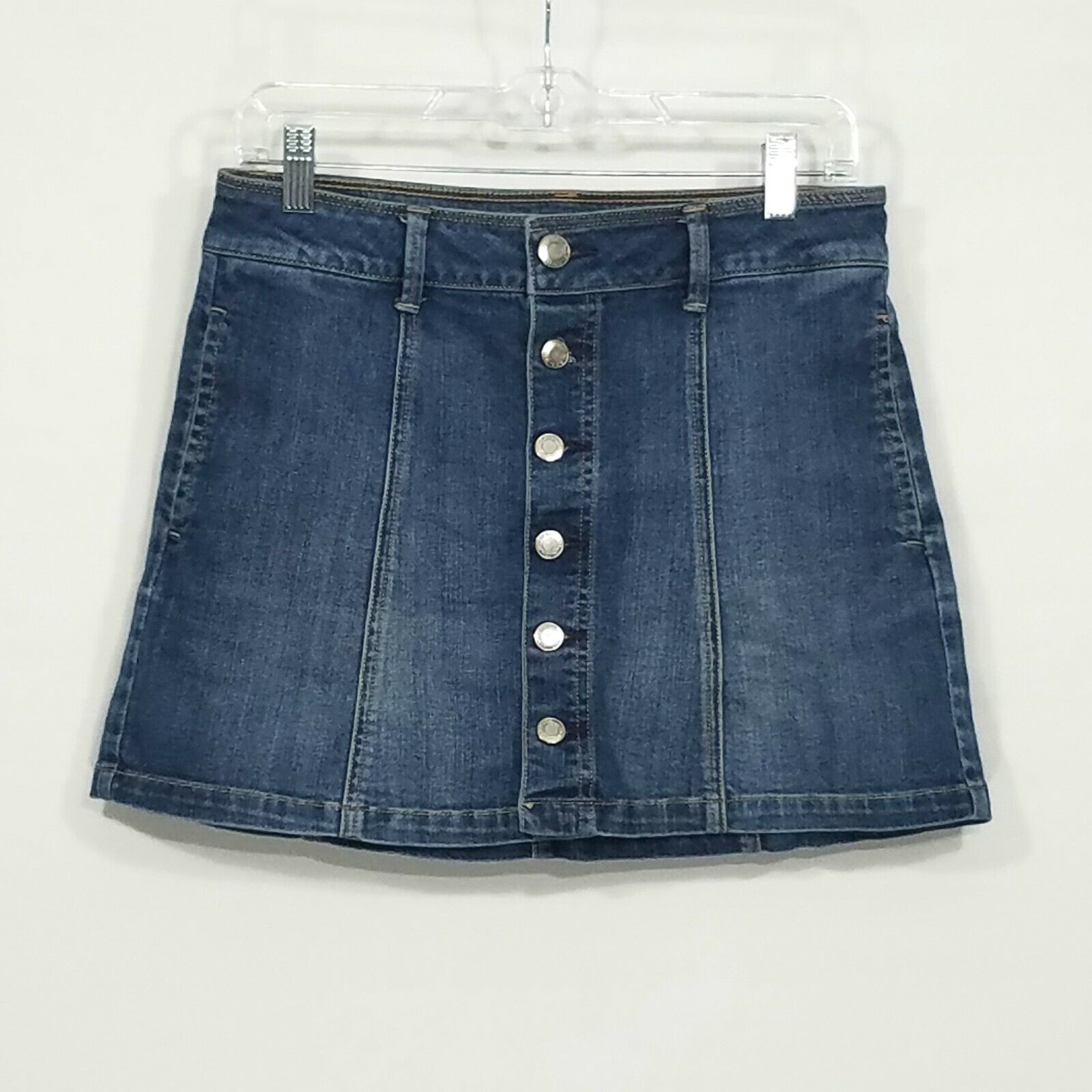 American Eagle Button Front Denim Mini Skirt Wome… - image 1