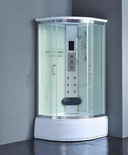 Shower enclosure Touch Screen, Steam Room  Massage Jets LED Lights 8004AS Pure