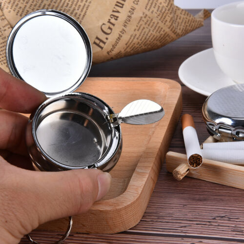 Doppelschicht-runder Zigaretten-Schlüsselanhänger Tragbarer Edelstahl FBB