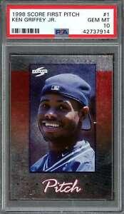 Ken-Griffey-Jr-Card-1998-Score-First-Pitch-1-Seattle-Mariners-PSA-10