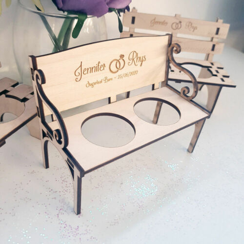 Shot Glass Chair Wedding Decor Centrepeice Furniture Personalised Wooden Bench