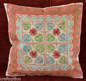 India-Stone-wash-Cotton-Embroidery-Hand-Made-Pillow-Cover-from-Craft-Options