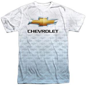 Authentic-Chevrolet-Chevy-Logo-Repeat-Sublimation-Front-T-shirt-S-M-L-X-2X-3X