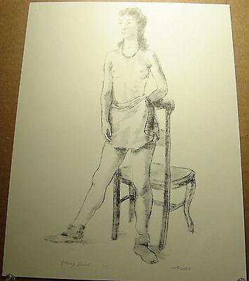 """Isabel Bishop Antique 1939 PRINT /""""Office Girl/"""" vintage print"""