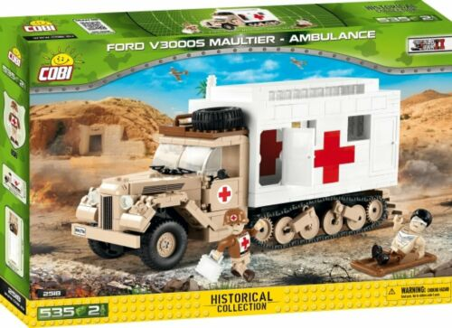 COBI 2518-Small Army-WWII FORD v3000s Mule ambulance croix rouge