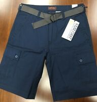 Men's Wearfirst Navy Blue 685 Legacy Cargo Belted Short Size 34