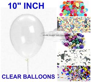 "50 CLEAR 10/"" 12/"" 36/"" BALLOONS PLAIN HELIUM QUALITY TRANSPARENT BALLOON 20 10"
