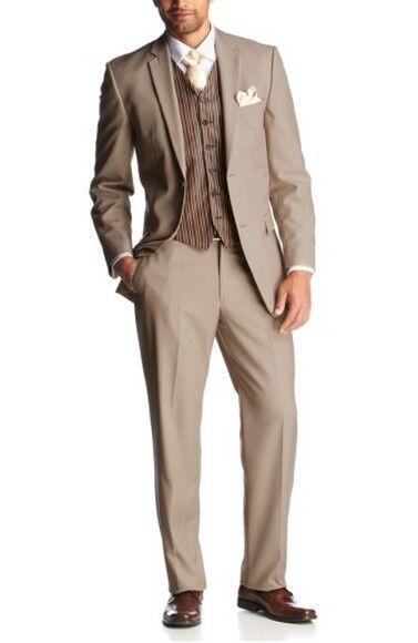 6tlg. Studio Coletti Beige Costume Set Taille 46 NEUF Beige Coletti Homme Veste De Sport 2x Pantalon Gilet Suit 9798c5