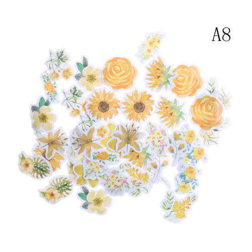 45Pcs Kawaii Journal Diary Decor Flower Stickers Scrapbooking Stationery Sup  Nz