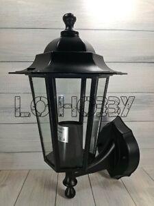 Applique da esterno nera a parete lanterna per giardino ...