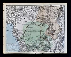 Map Of Africa Zaire River.1877 Petermann Map Stanley S Congo River Expedition Route Africa