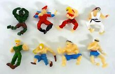 "STREET FIGHTER 2 LOT OF 8 Vintage Mini 1"" Action Figure Balls RYU VEGA E HONDA"