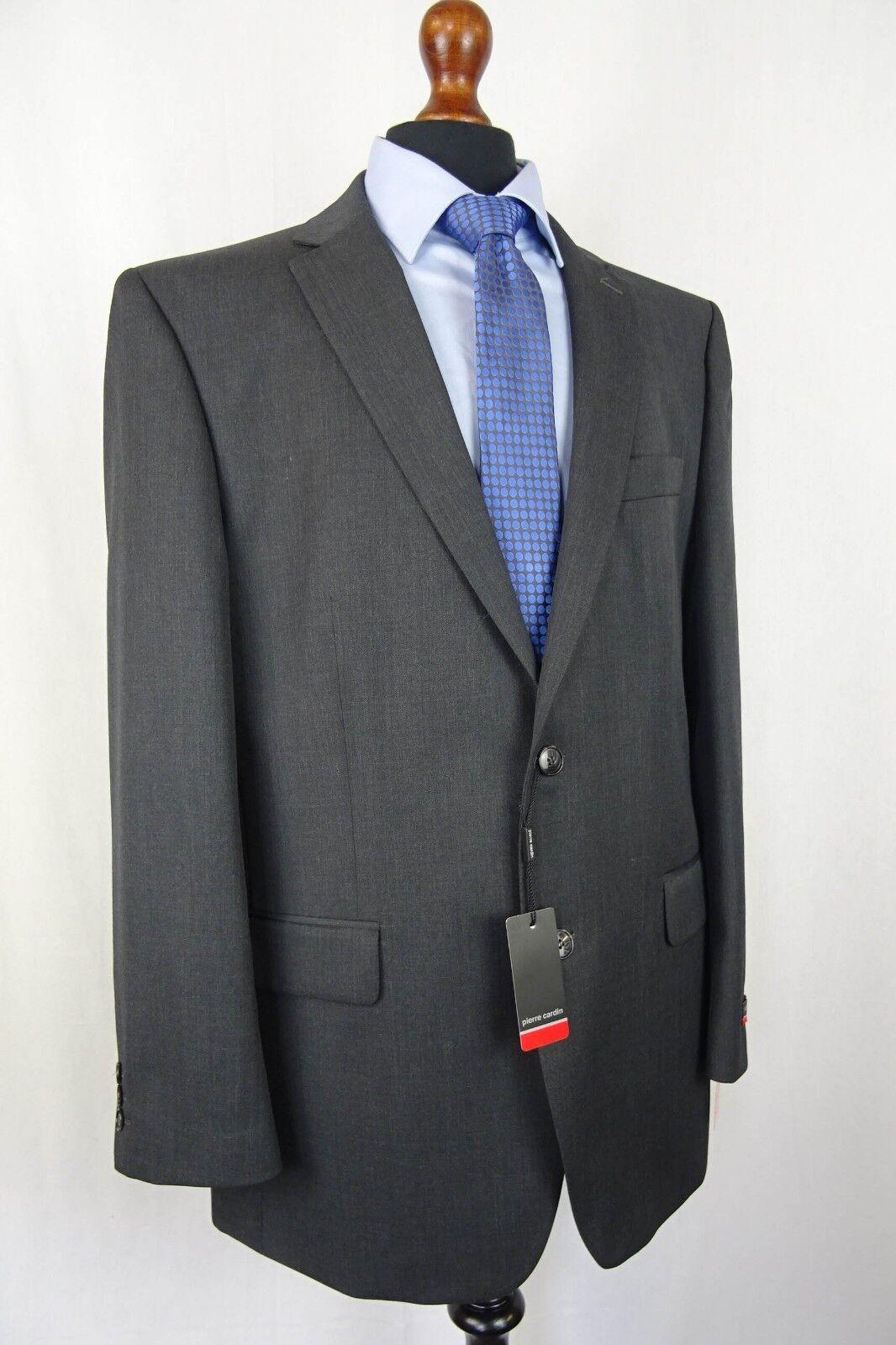 Men's Pierre Cardin Grey Twill Regular Fit Suit 42R W36 L31 VB90
