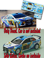 Decal 1:43 Yeray Lemes - MITSUBISHI LANCER EVO X - Rally ESPAÑA CATALUNYA 2012