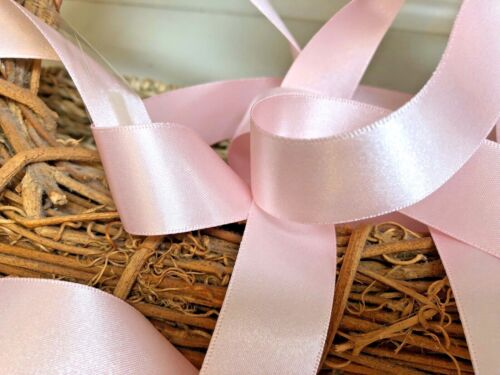 Berisfords Shade 70 Pale Pink Double Satin Ribbon 3//7//10//15//25//35//50mm Widths