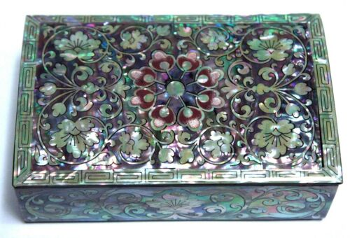Korean Black Lacquer Mother Of Pearl Inlay Furniture