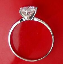 0.5 ct Solitaire Round cut Brilliant Engagement Ring Real 14KT Solid White Gold