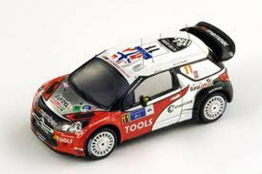 Citroen Ds3 Wrc  11 4Th Mexico Rally 2011 1:43 Spark S3304 Modellino