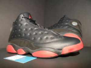 separation shoes 4741e 8a4cd Image is loading Nike-Air-Jordan-XIII-13-Retro-BLACK-GYM-