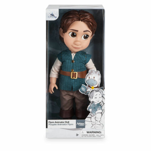 """Disney Store Animators Collection Flynn Rider Toddler 16/"""" Doll Tangled Sealed"""