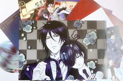 8PCS Japan Anime Black Butler Sebastian Ciel Cosplay Mix Embossing POSTERS SET