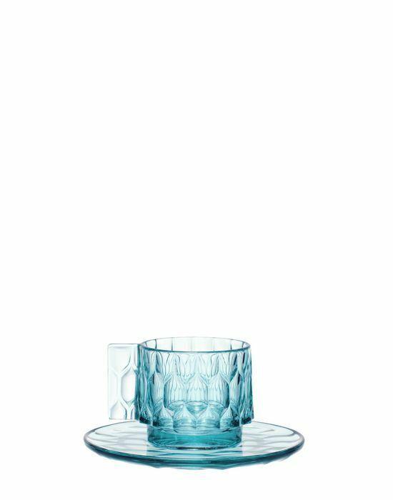 Set 4 Tazzine da caffè Kartell Jellies Family Couleure Azzurro