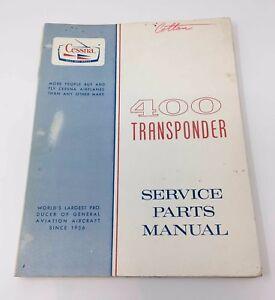 cessna 400 transponder service parts manual ebay rh ebay com Cessna 182 Parts Manual Cessna 150 Parts Manual