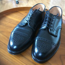 Alden 2146 Cordovan Medallion Tip Blucher Oxford Shoes - Black - Size 7E / 41