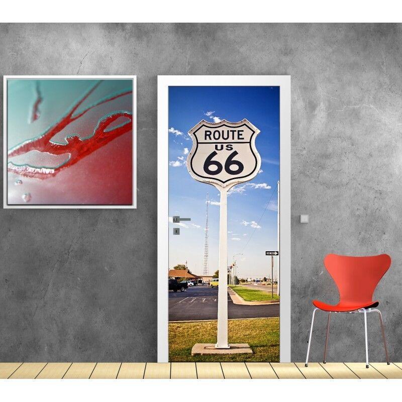 Adesivi Porta Decocrazione Route 66 800