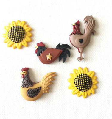 NEW Set of 4 Cute Resin Farmyard Animal Fridge Magnets Cow Pig Sheep Chicken