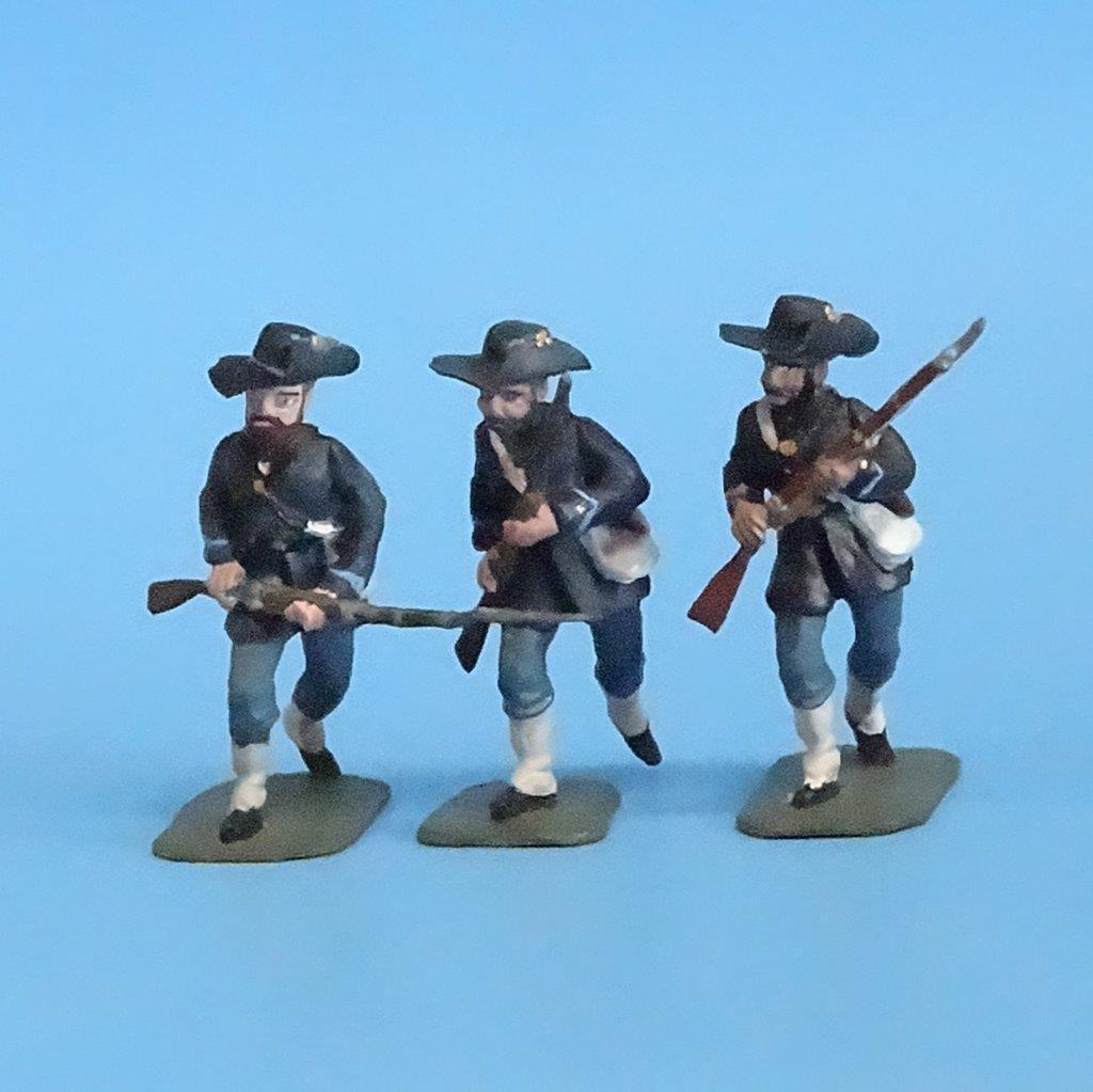 CORD-161 - Iron Brigade Advancing (3 Figures) - ACW - Manufacturer Unknown -54mm