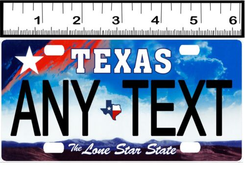CUSTOM PERSONALIZED ALUMINUM BICYCLE MINI STATE LICENSE PLATE-TEXAS 2009