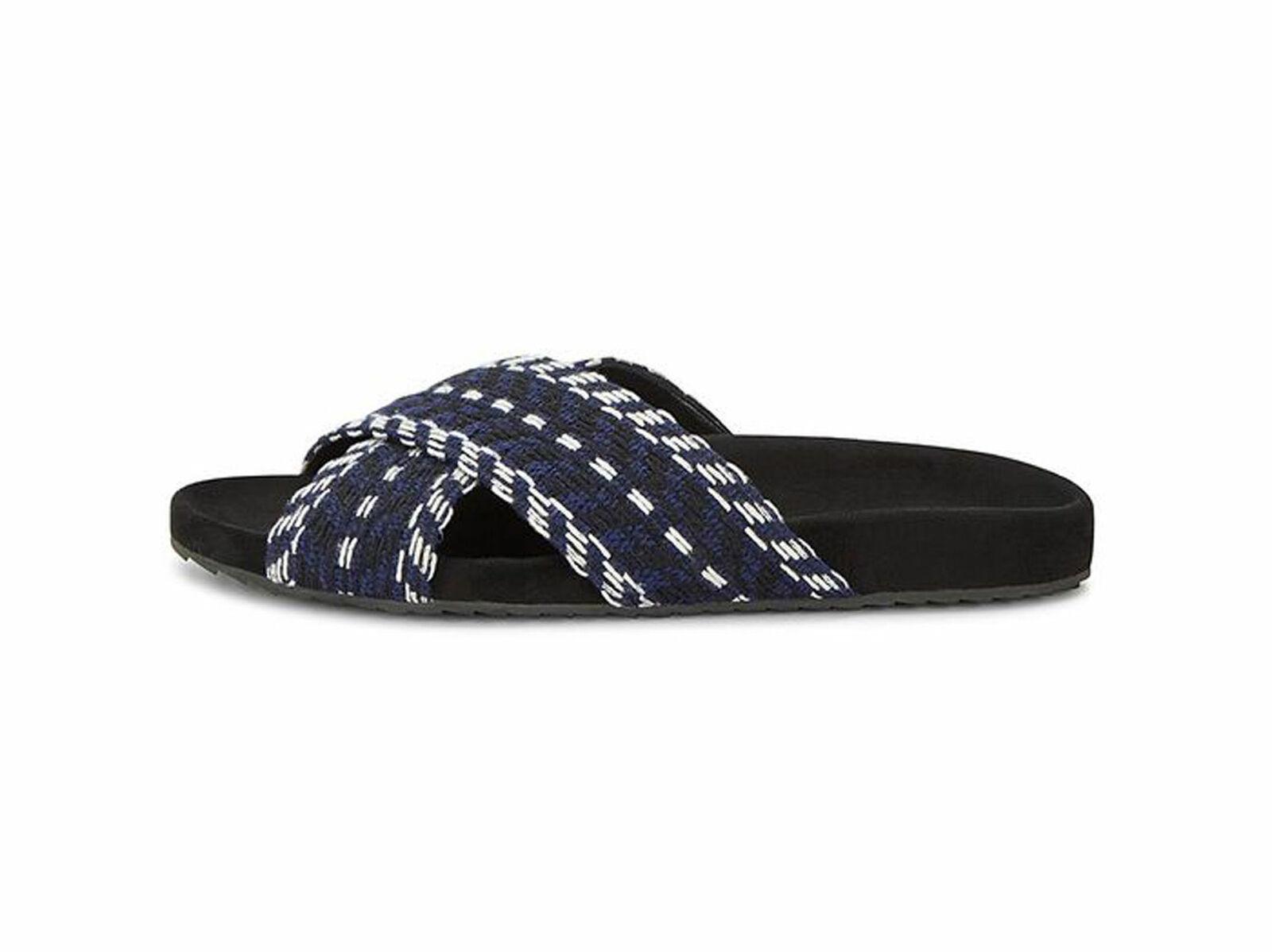 suministro de productos de calidad Rebecca Minkoff Minkoff Minkoff Mujer Theo Azul Marino Tweed Sandalias Deslizables US 7.5  oferta de tienda