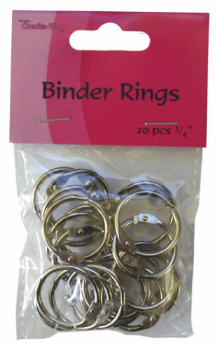 "CRAFTS TOO Pack of 20 BINDER RINGS 3//4/"" BR34"