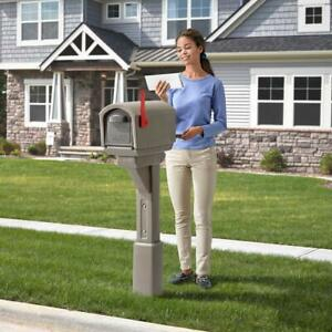 Details about Large Residential Mailbox Post Mount Pedestal Heavy Duty  Rural Mail Box Overhang