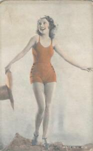 PIN-UP-GIRL-Bathing-Beauty-Vintage-Bathing-Suit-Risque-ca-1940s-Arcade-Card