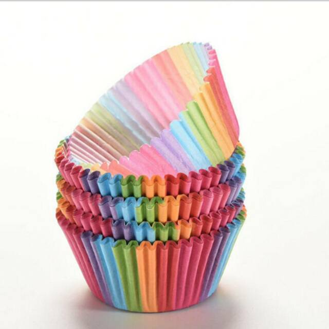 100 x Paper Cake Cup Cupcake Cases Liners Muffin Kitchen Baking Wedding Party f