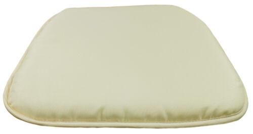4 x Seat Pads Cream Garden Chair Cushion Kitchen Dining Patio Chair Cushion Pads