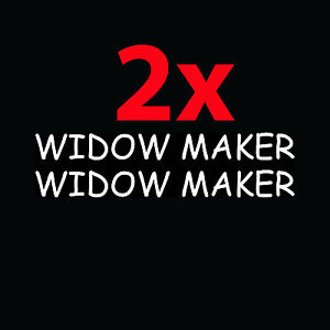 2x-WIDOW-MAKER-Shotgun-Barrel-Stickers-Funny-Vinyl-Decals-Hunter-Woods-Trap-Gift