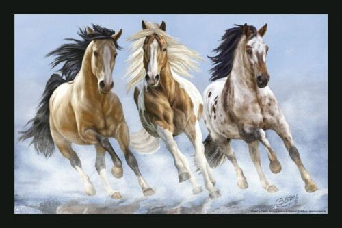 Designer felpudo pisotearlo caballos motivo River horses Collection boetzel 25008