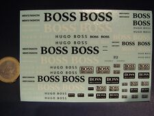"DECALS 1/43 - 1/32 - 1/24 - 1/18 LOGOS "" HUGO BOSS "" - T312"