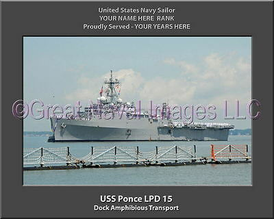 USS Ponce LPD 15 USN Navy Naval Ship Photo Print